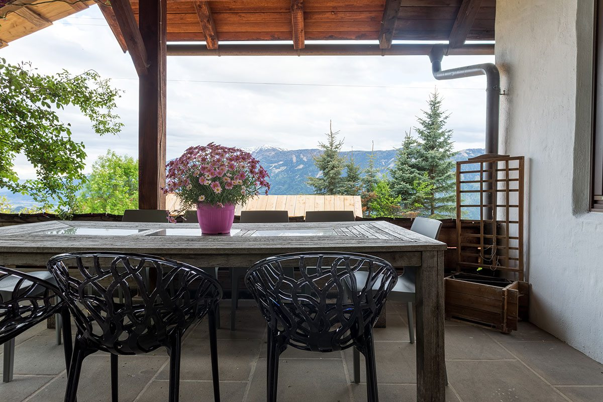 Aussicht - Design Ferienhaus Berg Chalet Millstätter See