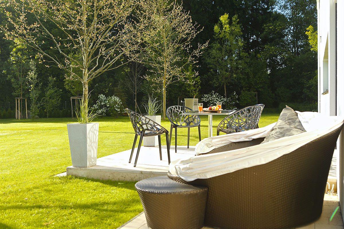 Garten - Design Ferienhaus Bauhausvilla Kärnten, Spittal/Millstätter See