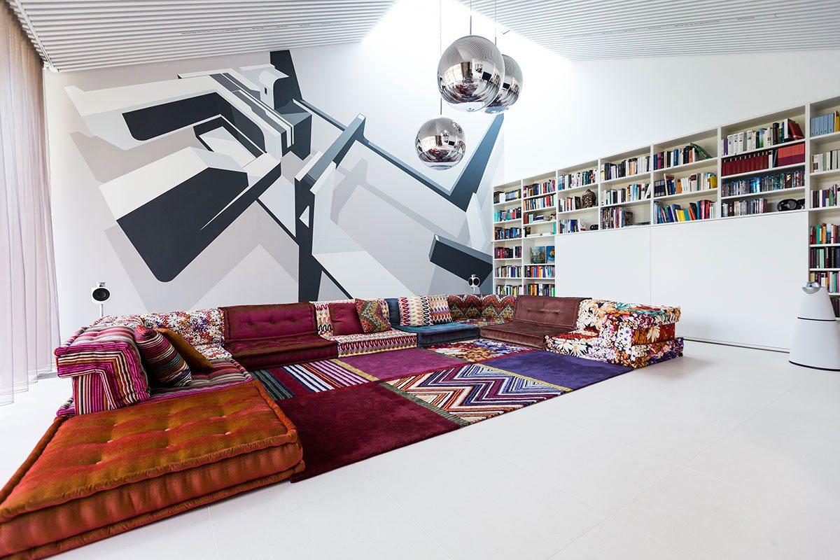 Wohnzimmer - Design Ferienhaus Bauhausvilla Kärnten, Spittal/Millstätter See