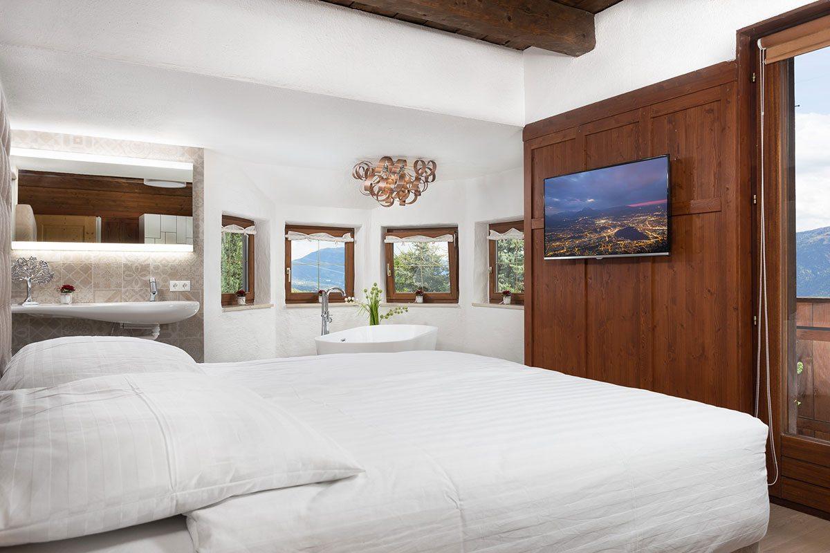 Schlafzimmer - Design Ferienhaus Berg Chalet Millstätter See
