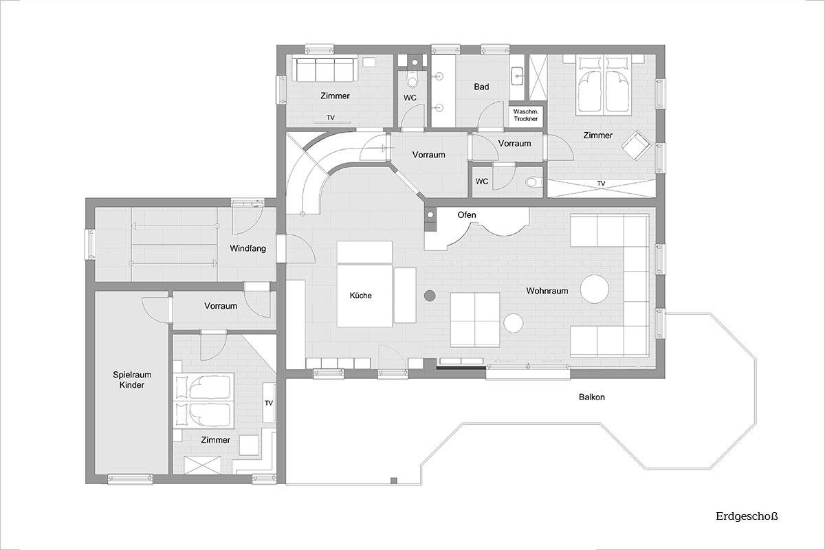 Grundriss - Design Ferienhaus XXL-Chalet Ski-In/Out Wagrain