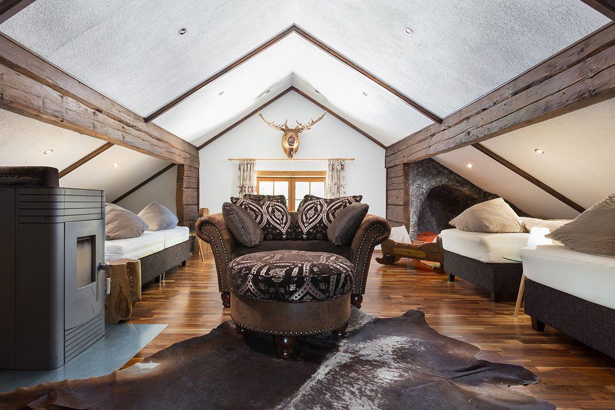 Schlafzimmer - Design Ferienhaus Almhütte XL Ski Amadé, St. Veit im Pongau