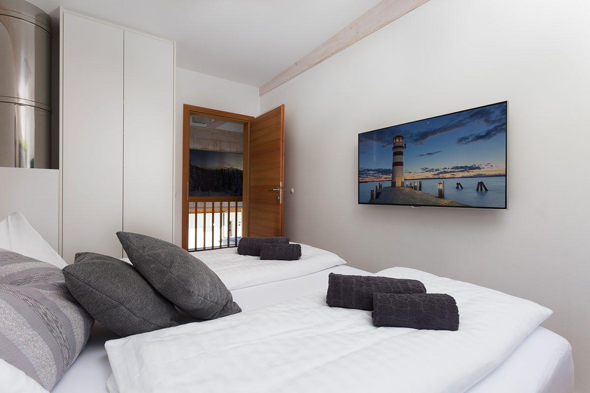 Schlafzimmer - Design Ferienhaus Chalet Altenmarkt-Zauchensee, Ski amadé