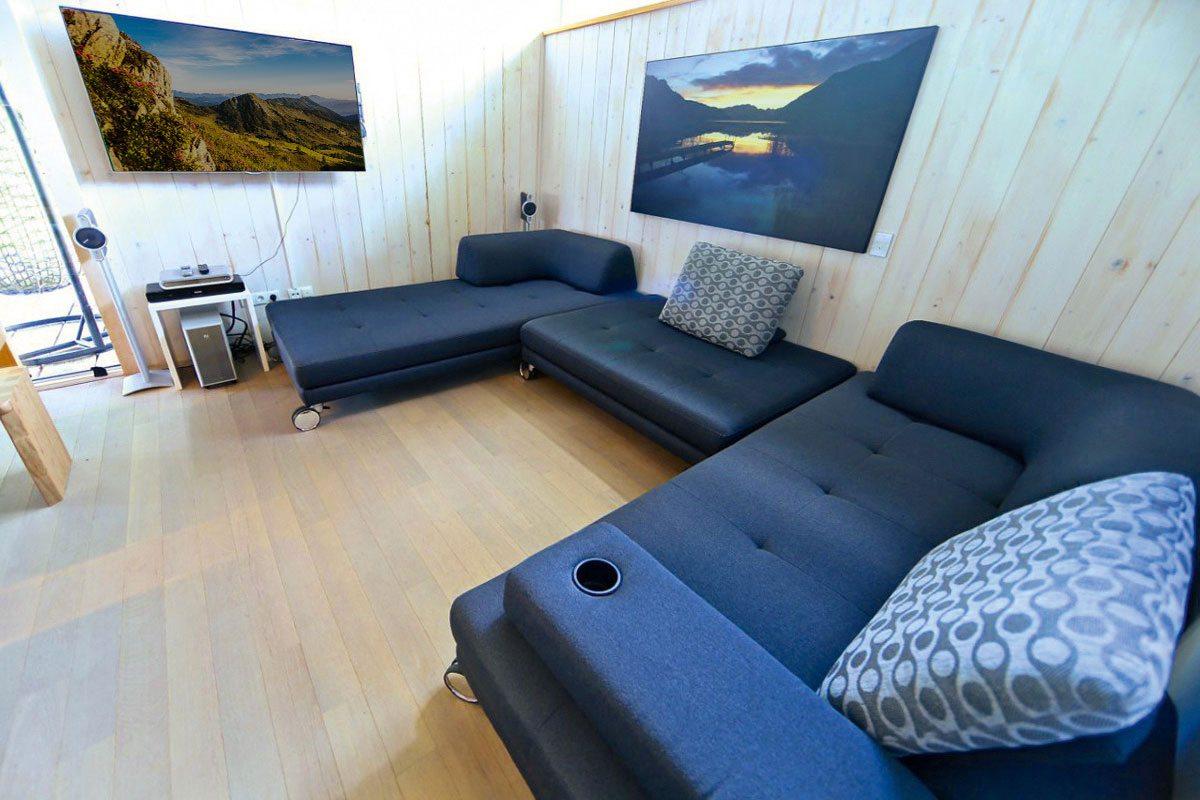 Wohnbereich - Design Ferienhaus Chalet Altenmarkt-Zauchensee in Ski amadé