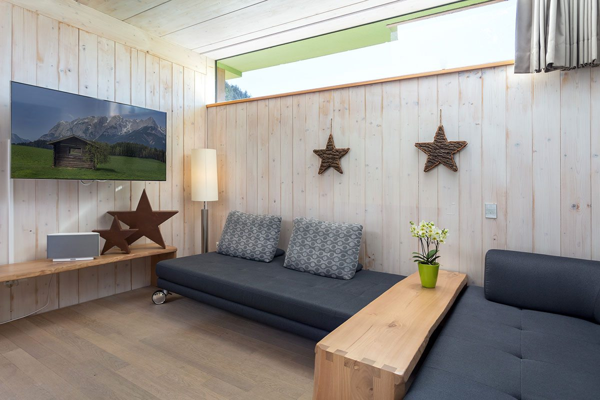 Wohnbereich - Design Ferienhaus Chalet Altenmarkt-Zauchensee, Ski amadé